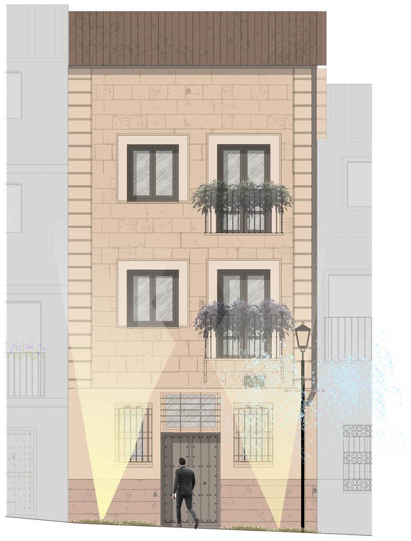 Esquema actuación en fachadas